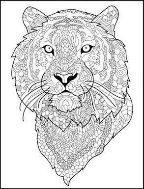 Image Result For Adult Coloring Pages Printable Tiger Cat
