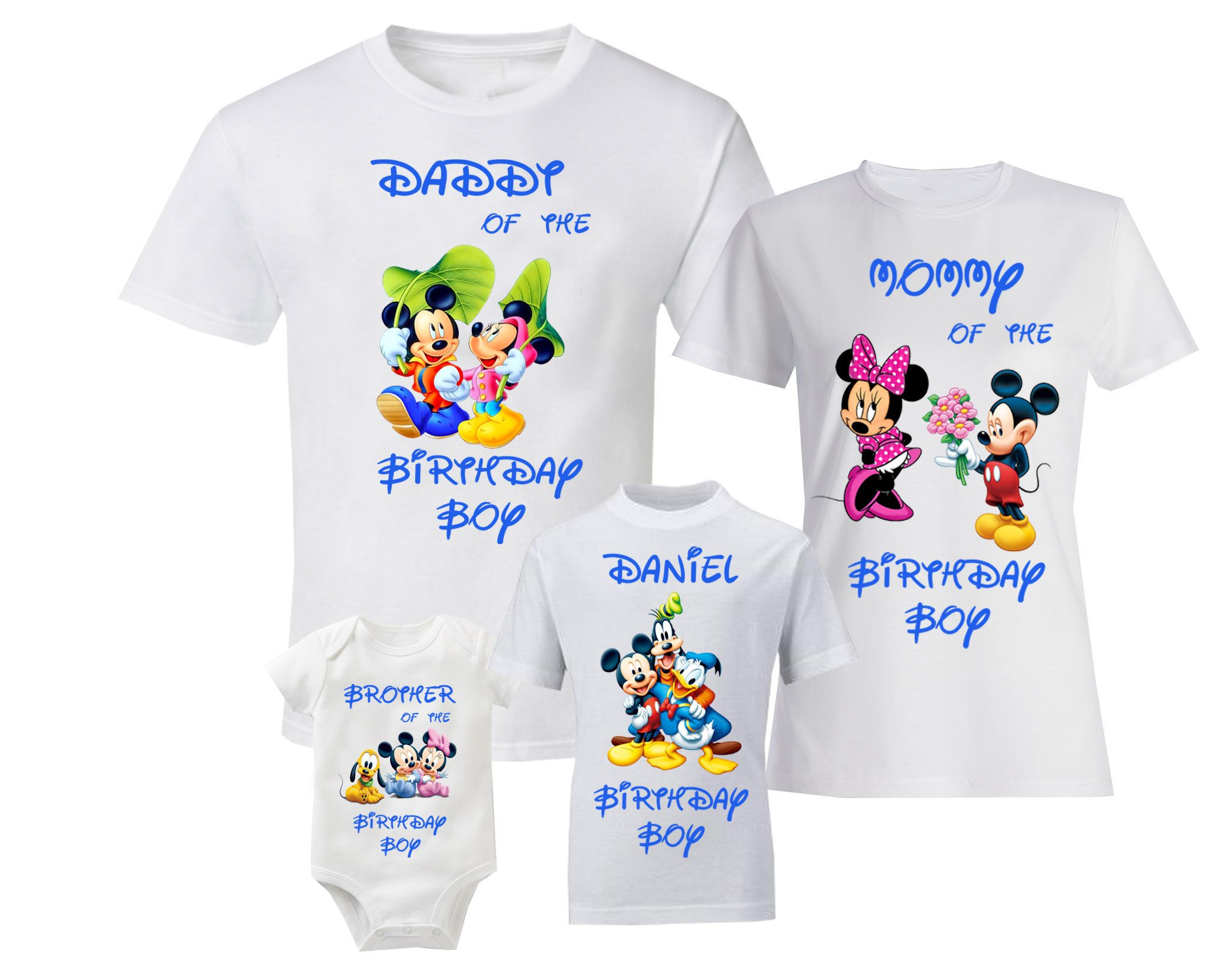 Disney mickey mouse birthday shirts birthday family shirts