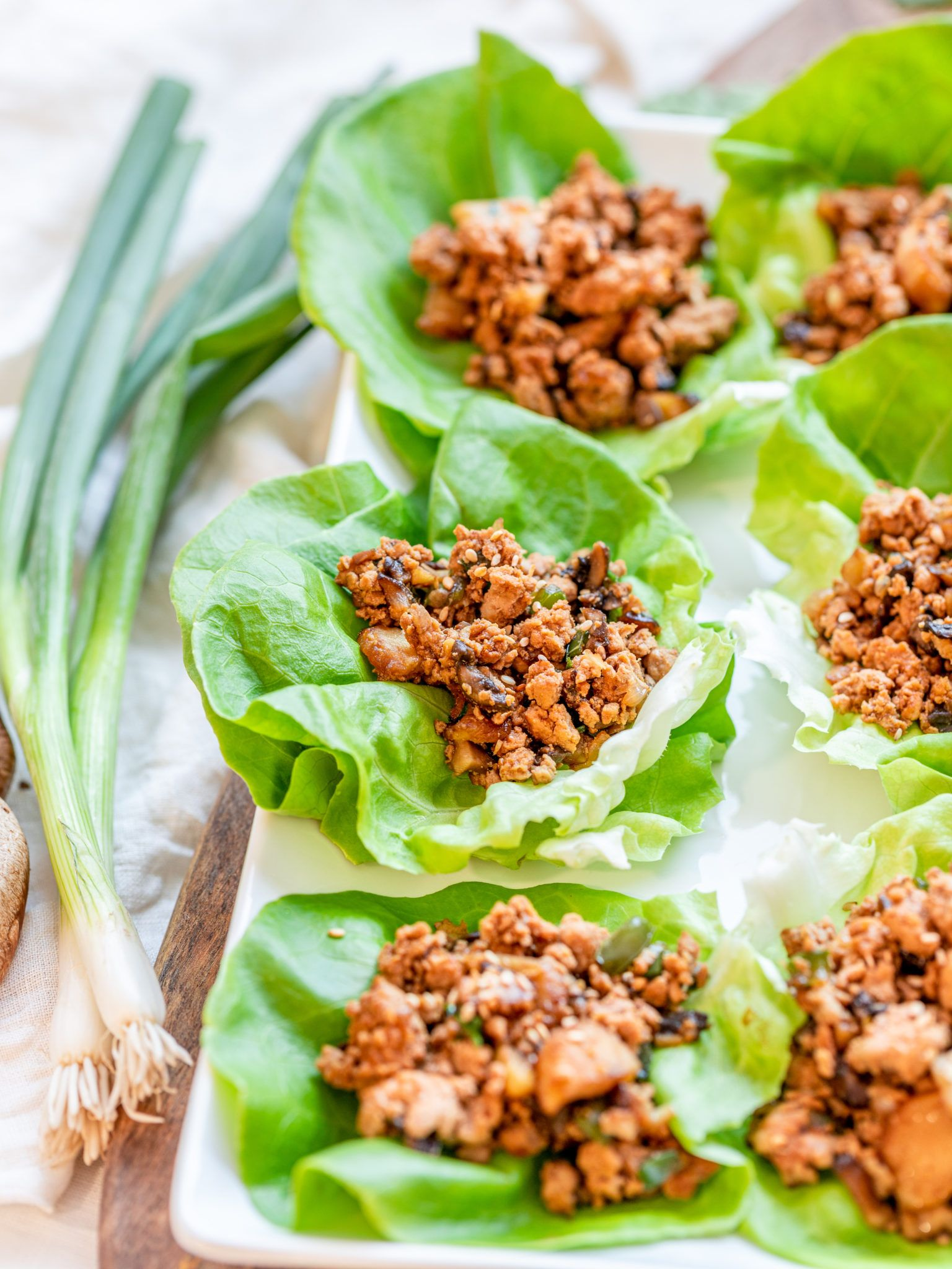 pf chang's inspired chicken lettuce wraps  recipe  lettuce wraps vegetarian lettuce wraps