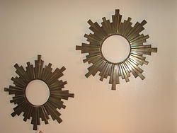 Pair of Gorgeous Art Deco Bronze Starburst Frames
