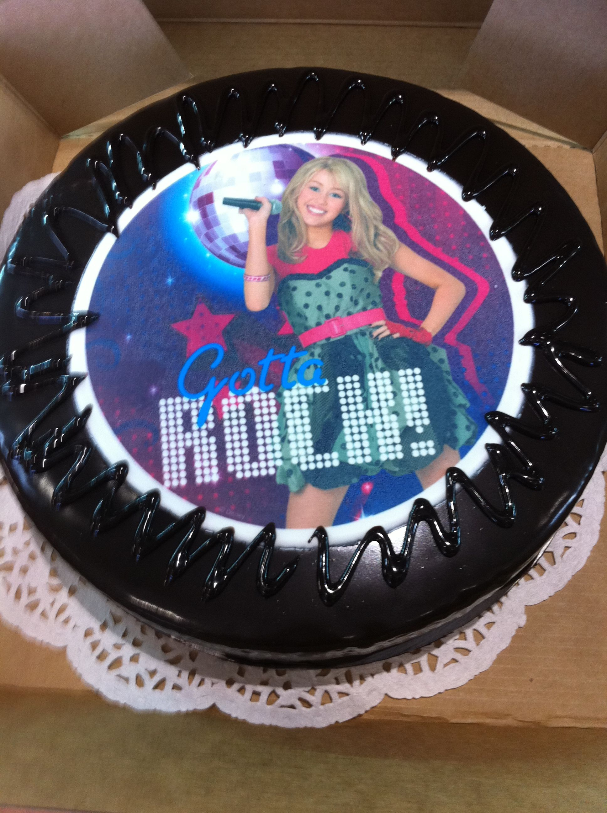 Outstanding Hannah Montana Birthday Cake Birthday Cake Birthday Cards Printable Inklcafe Filternl