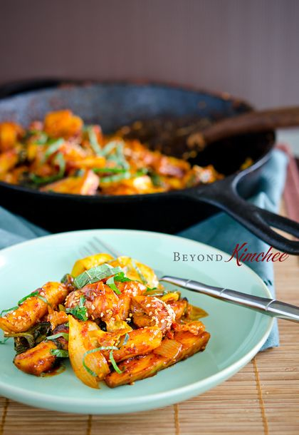 How to make Dak Galbi; the famous spicy Korean chicken and rice cakes of Korea