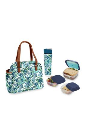 d7fff5dc5293 Fit & Fresh Laketown Insulated Lunch Bag Kit with Reusable Container ...
