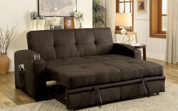 Miraculous Furniture Of America Mavis Sofa Bed In Dark Brown W Pull Cjindustries Chair Design For Home Cjindustriesco