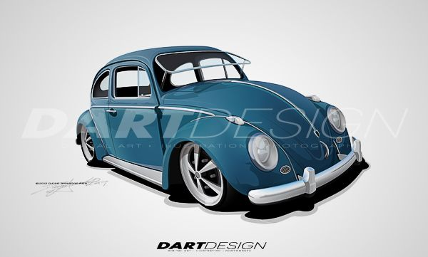 Volkswagen Beetle 1965 Shows Its Construction Processdart Dart Design Style C 2011 All Rights Reserved Volkswagen Beetle Volkswagen Vw Art
