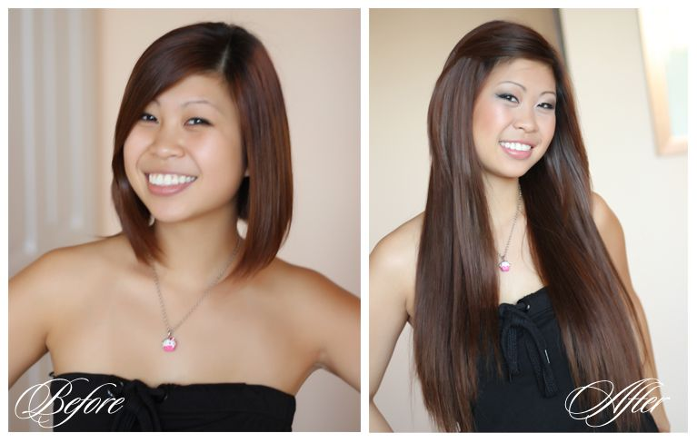 Beautiful Hair Extensions Before And Afterg Human Hair