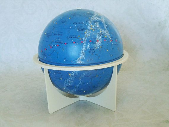 Vintage Celestial Sky Globe, Mid Century Mini Astrological Sky Globe by Replogle