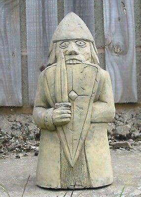 Viking-Medieval-Lewis-Berserker-Chess-piece garden ornament