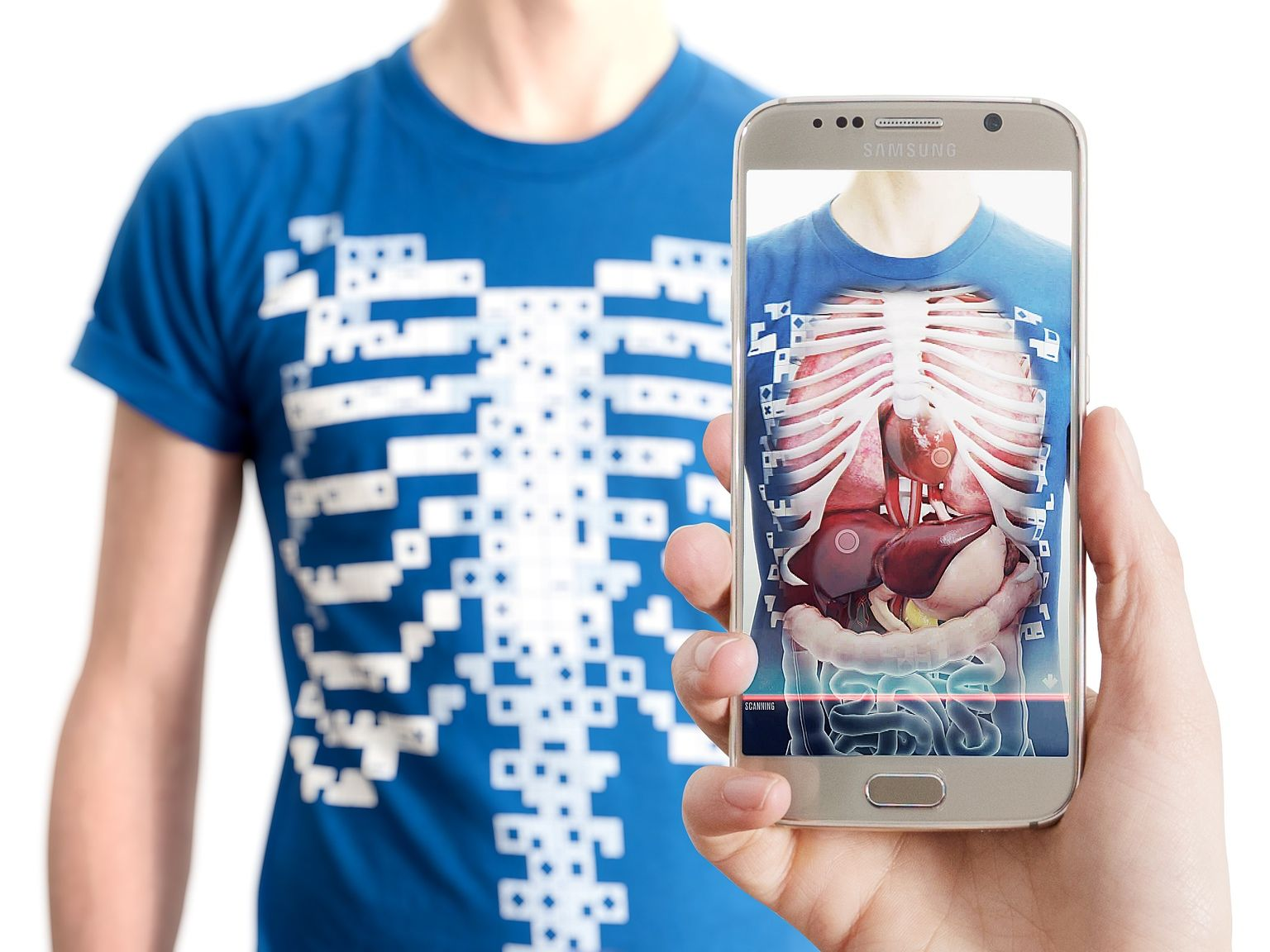 View this t-shirt through an app and watch it transform into an ...
