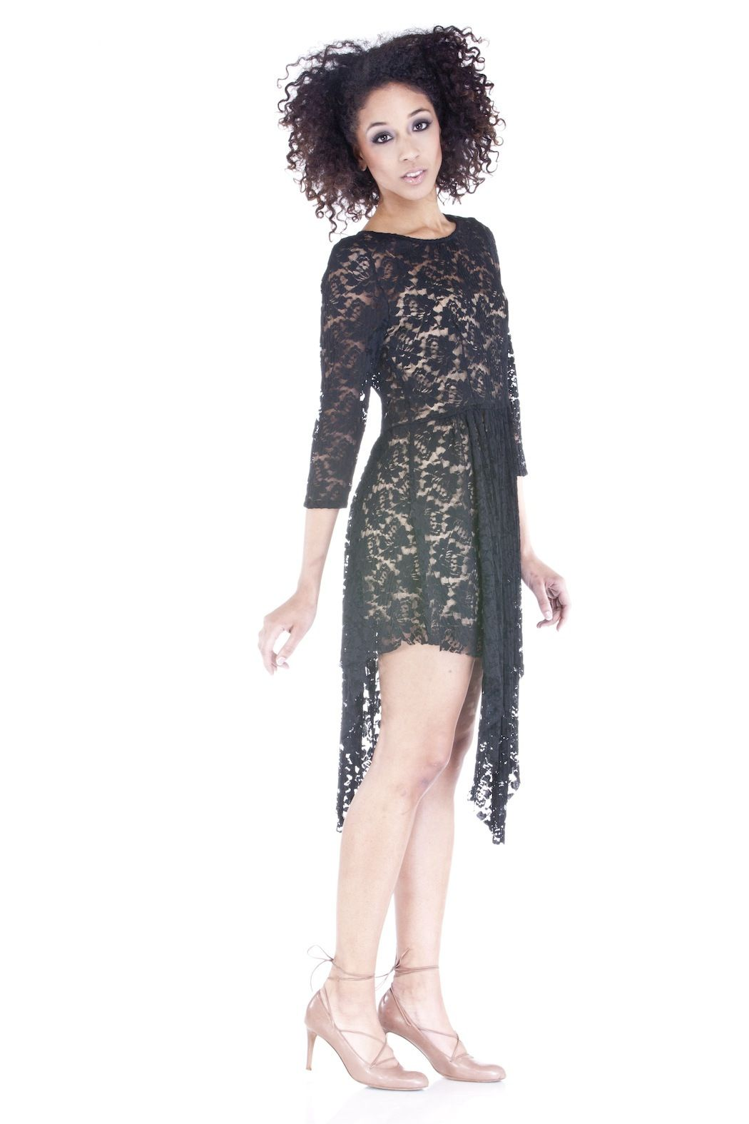 Goldie london long sleeve lace dress lace dress black laces and