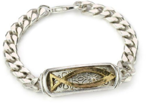 "The Vatican Library Collection Gold-Tone Fish Bracelet The Vatican Library Collection. $28.00. Measures: 6 1/2""L x 1/2""W"