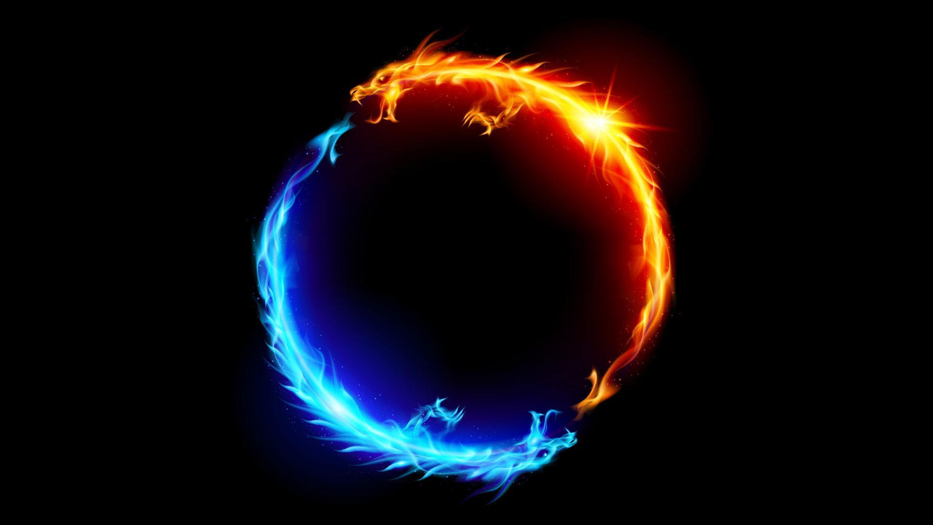 Flame Dragon iPhone Wallpaper