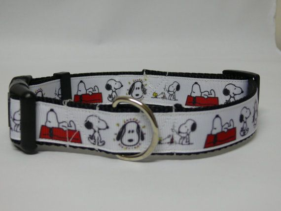 Snoopy Dog Collar by PolkaDotTails on Etsy
