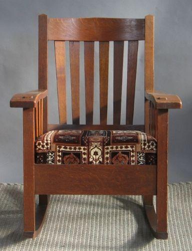 Original Lu0026JG Stickley Mission Rocking Chair Oak | Rocking Chairs And Rocking  Chair Cushions