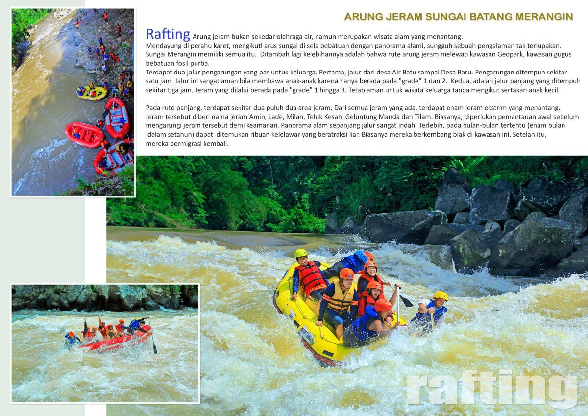 wisata jambi - Rafting geopark merangin - explore jambi