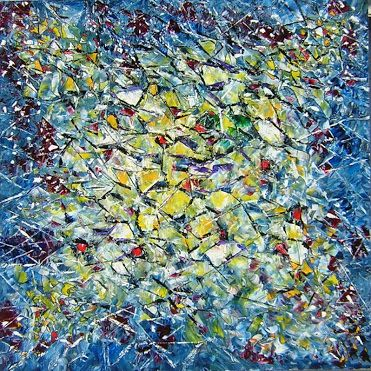 "MANY FACETS Original Oil Painting 36""X36"" by John R Jurisich"