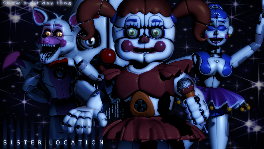 Five Nights At Freddy S Circus Baby Wallpaper Fnaf C4d Sister Location Wallpaper By Caramelloproductions Fnaf Sister Location Fnaf Sister Location