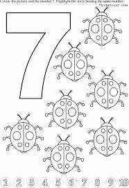 7 Rakami Boyama Ile Ilgili Gorsel Sonucu Boyama Sayfalari Okul