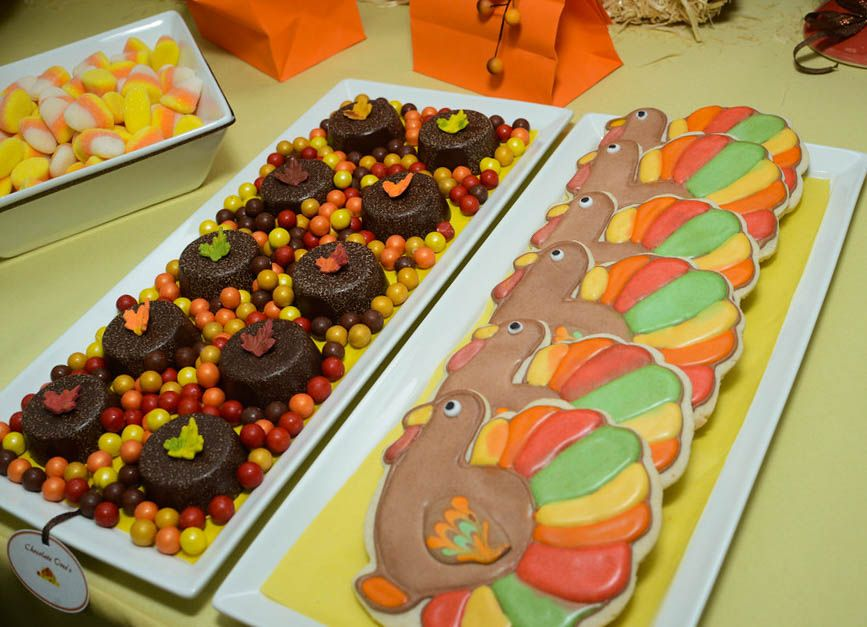 Turkey Cookies and Chocolate dipped Oreo's !  Custom Dessert Bar styled by Ganache. Like us at www.facebook.com/styledbyganache