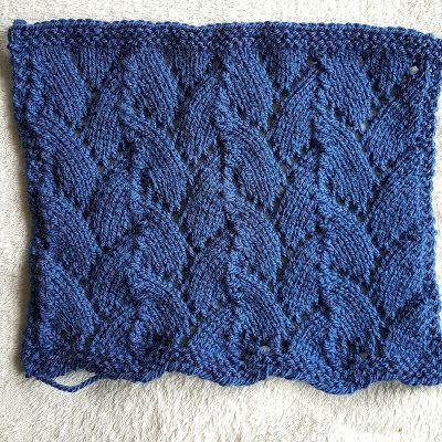 Meebrei Deken 2016 Blok 43 Blaadjes Slinger More Knit Stitches2