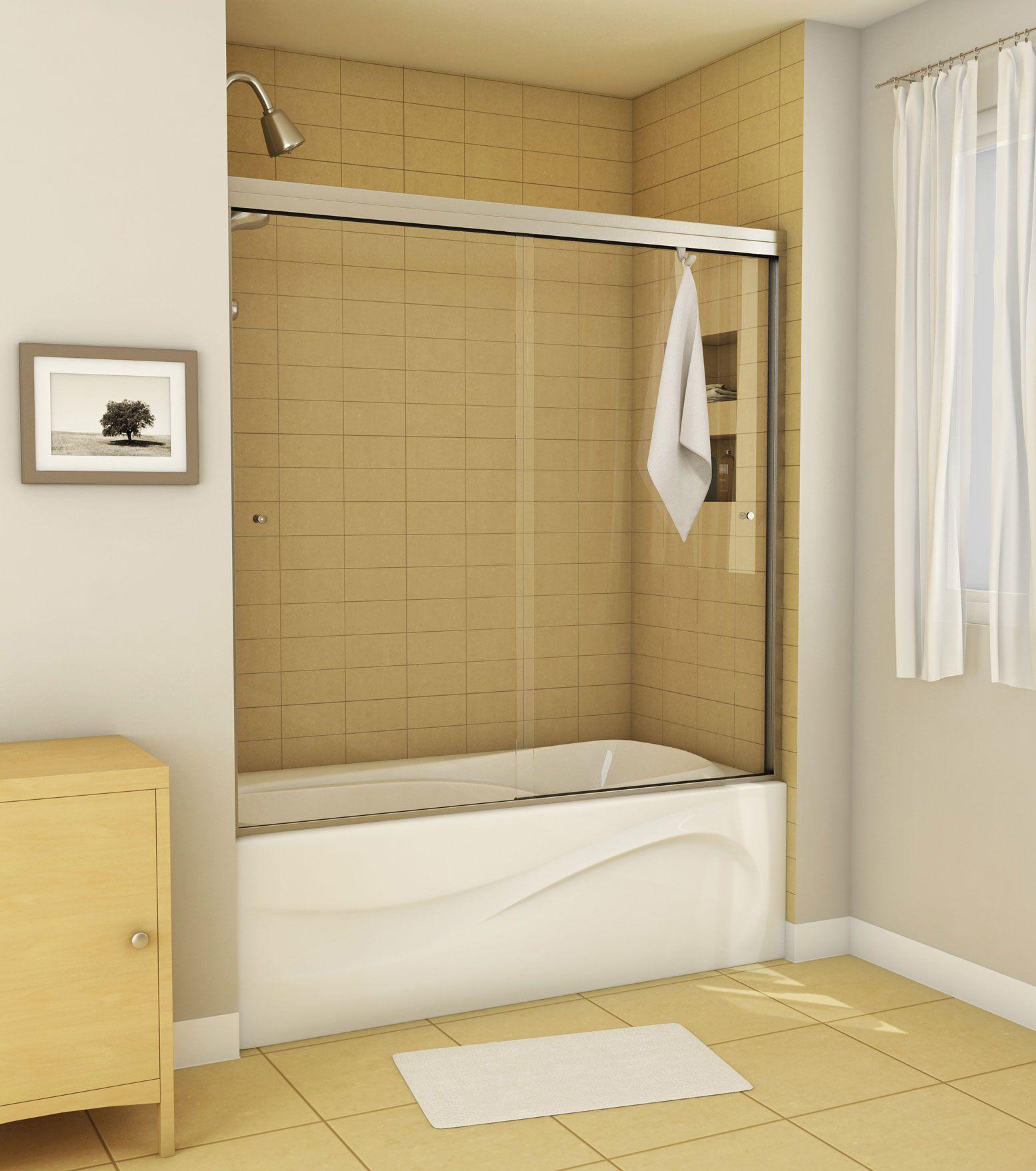Canvas 2-panel Tub showers door - MAAX | For the bathroom ...
