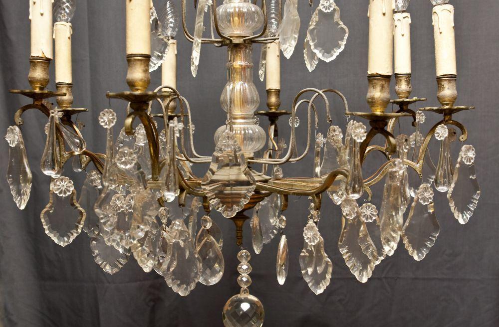 Stijlvol Kristallen Hanglampen : U ac kroonluchter vrij forse antieke kristallen franse