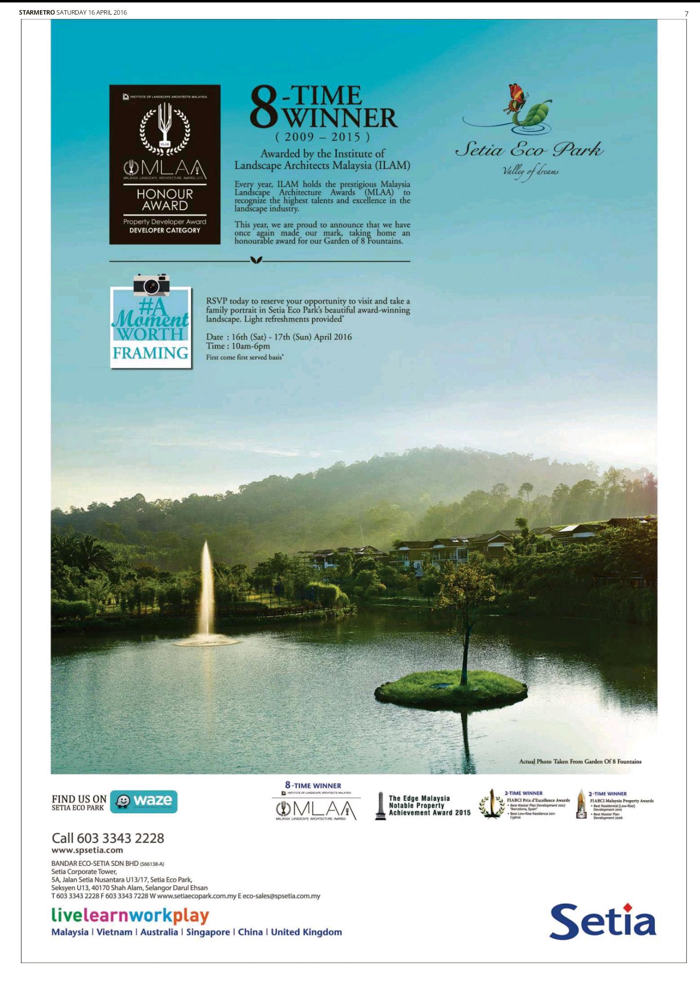 SetiaEcoPark   real estate paper advt   Pinterest
