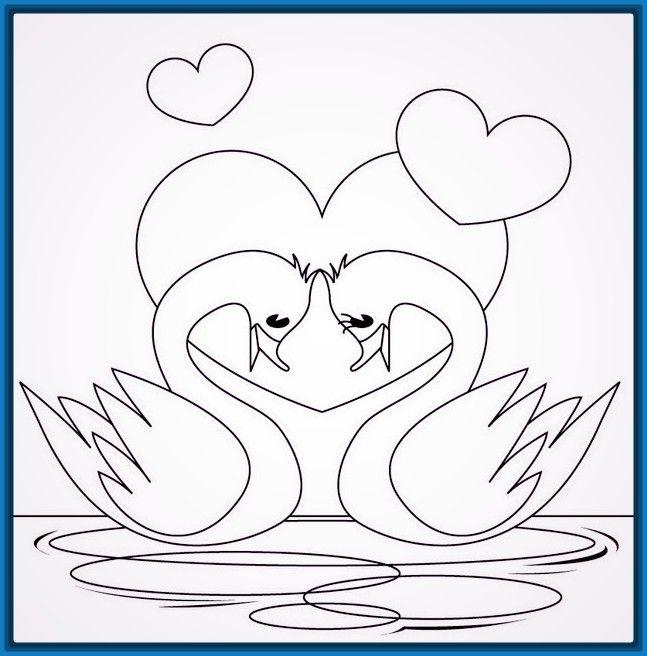 Resultado De Imagen Para Imagenes De Amor Para Dibujar Dibujos Dibujos Faciles De Amor Paginas Para Colorear De Animales