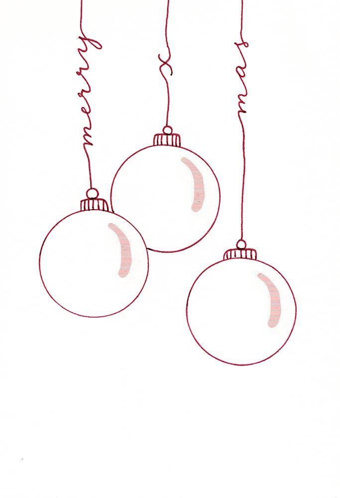 "Handlettering-Karte ""Frohe Weihnachten"" - Katja Haas | PapierLiebe"