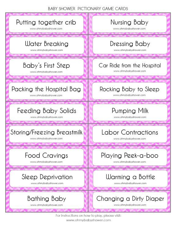 Lovely Baby Shower Pictionary Game | Oh My Baby Shower | Baby Shower  LK99