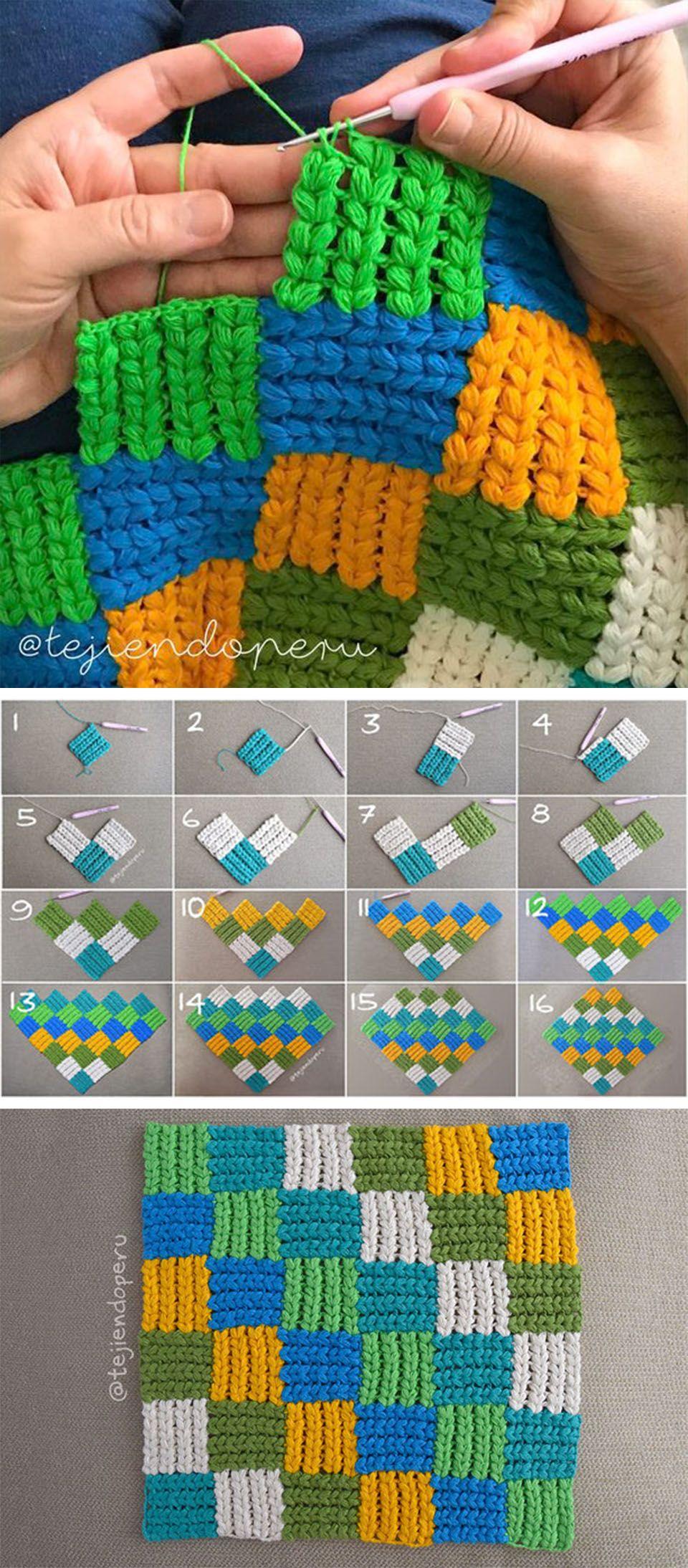 Interlaced Braid Stitch Crochet Pattern   Pinterest ...