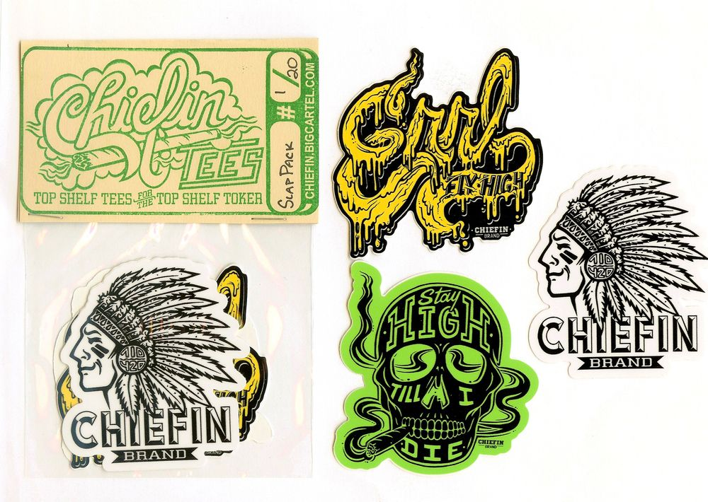 3 weatherproof high quality die cut sticker slaps measuring 3x3inches perfect size for the trusty