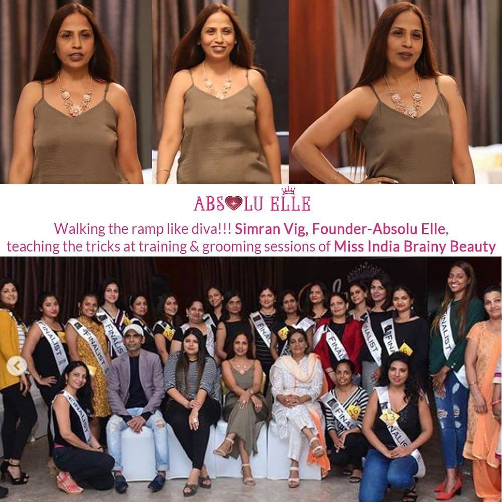 Simran Vig, Founder- Absolu Elle, Leading Pageant Training Academy in India, walking the ramp like d...