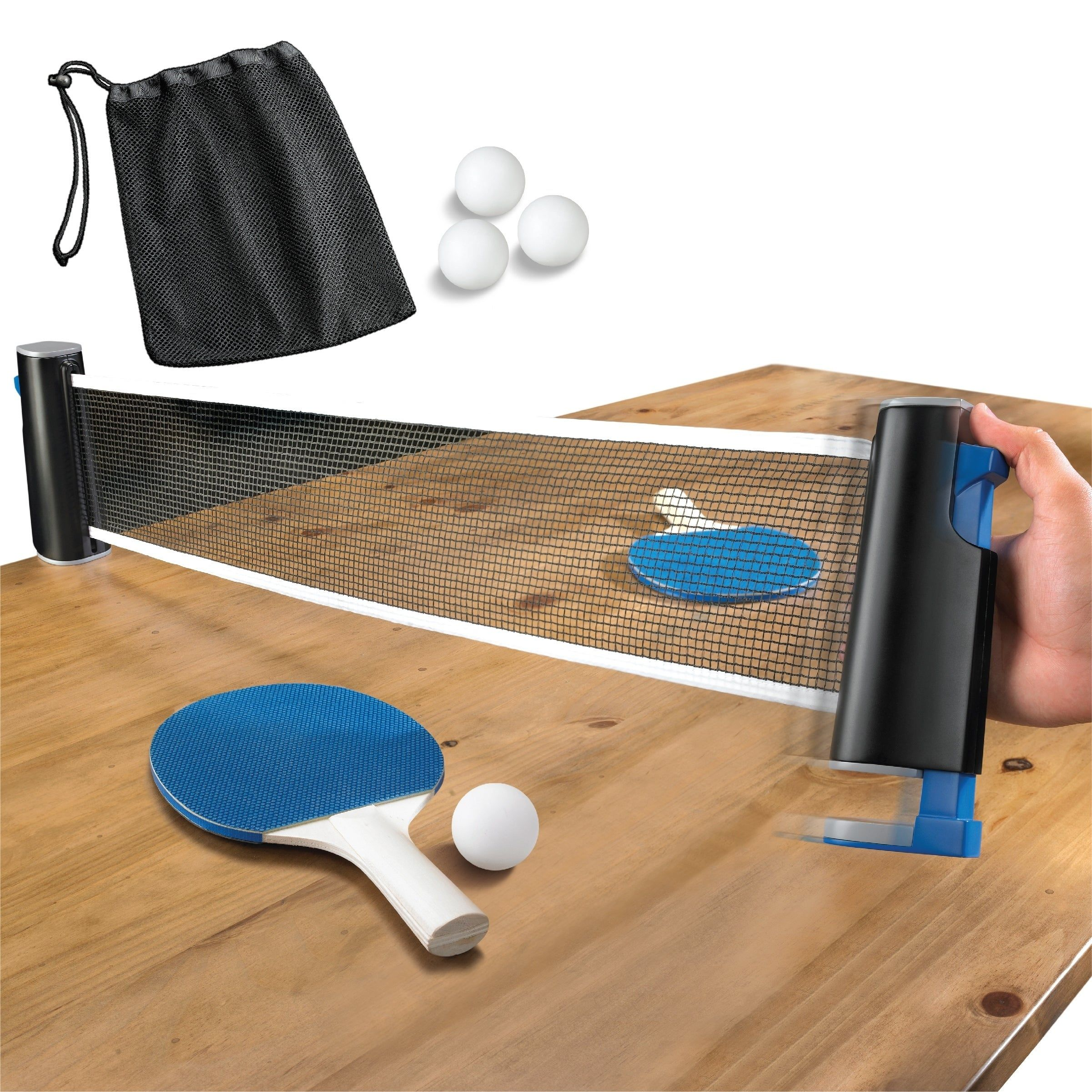 Game Table Top Tennis Retractable Go Anywhere, Blue in