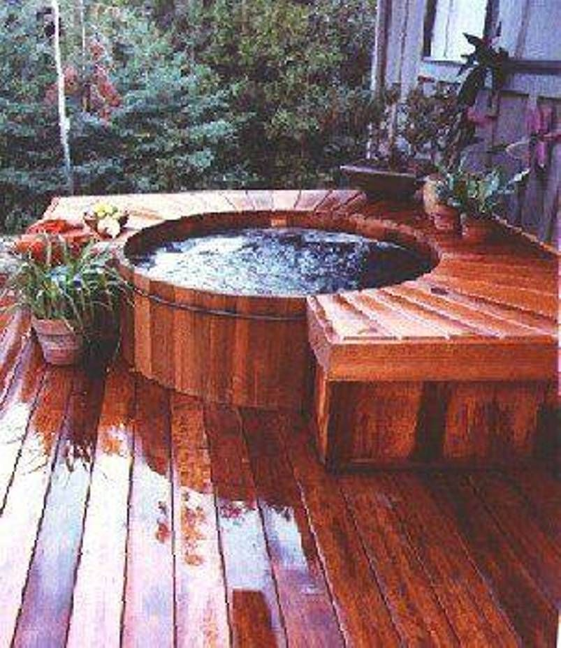 Image Result For Wood Hot Tub Deck Wood Hot Tubs