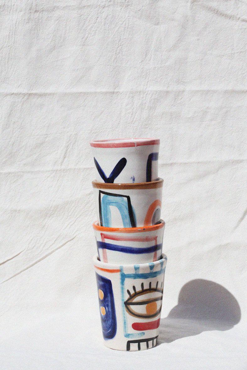 COFFEE CUPS 1 SET OF 2 PIECES LRNCE Ceramics