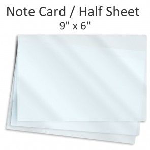 9 X 6 Note Card Half Size Laminating Pouches Note Cards Cards Notes