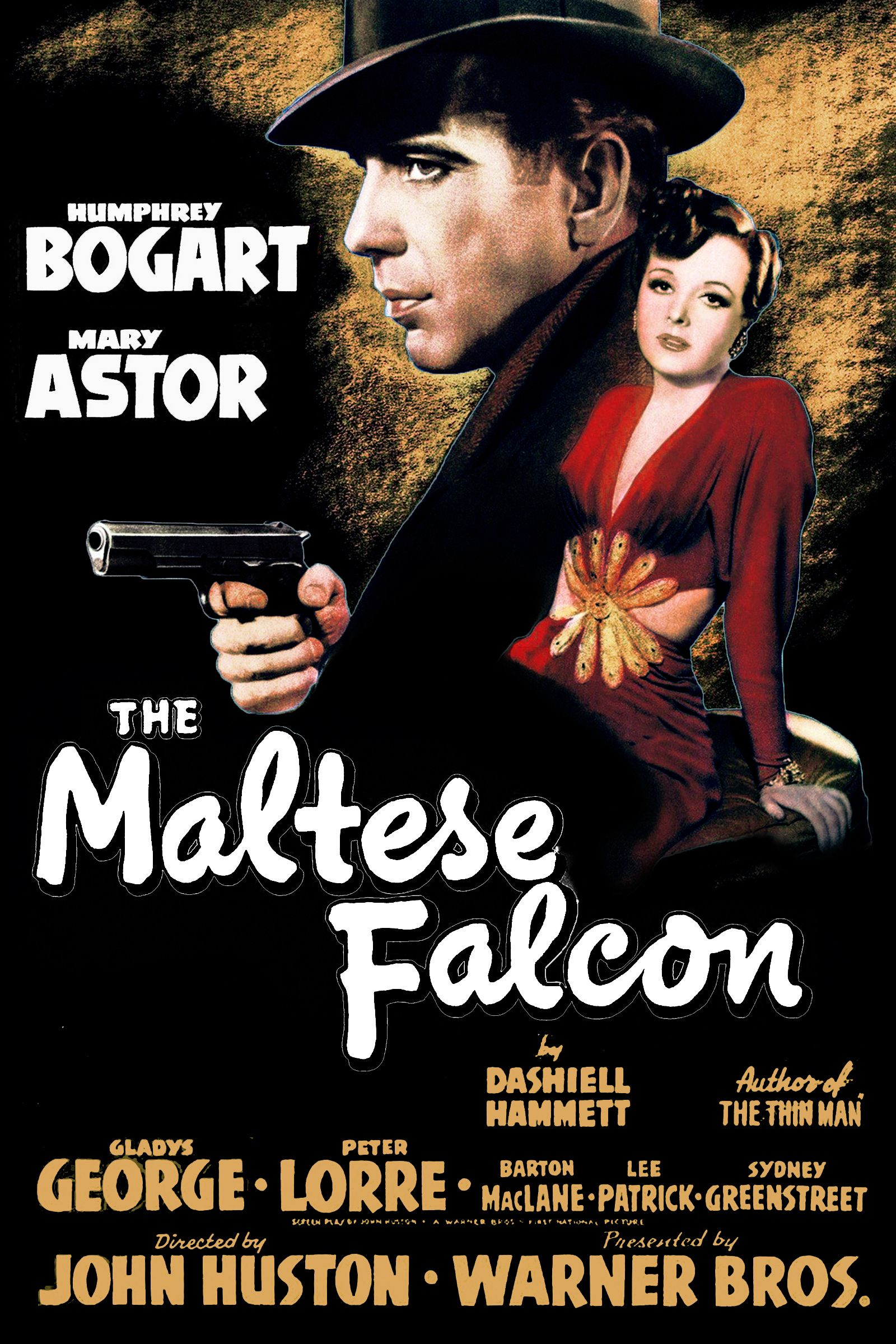 The Maltese Falcon Is A 1941 Warner Bros Film Noir Based On The Novel Of The Same Name By Dashiell Hamme Old Movie Posters Classic Movie Posters Movie Posters