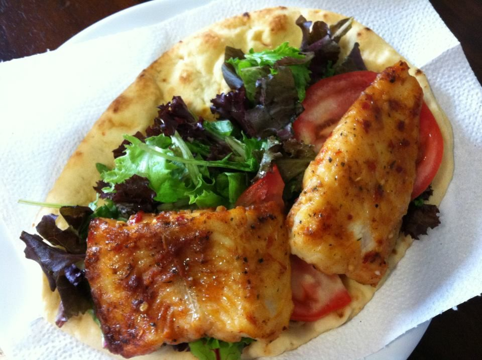 Pan seared fish pita when my stomach rules my brain for Pan seared fish recipes