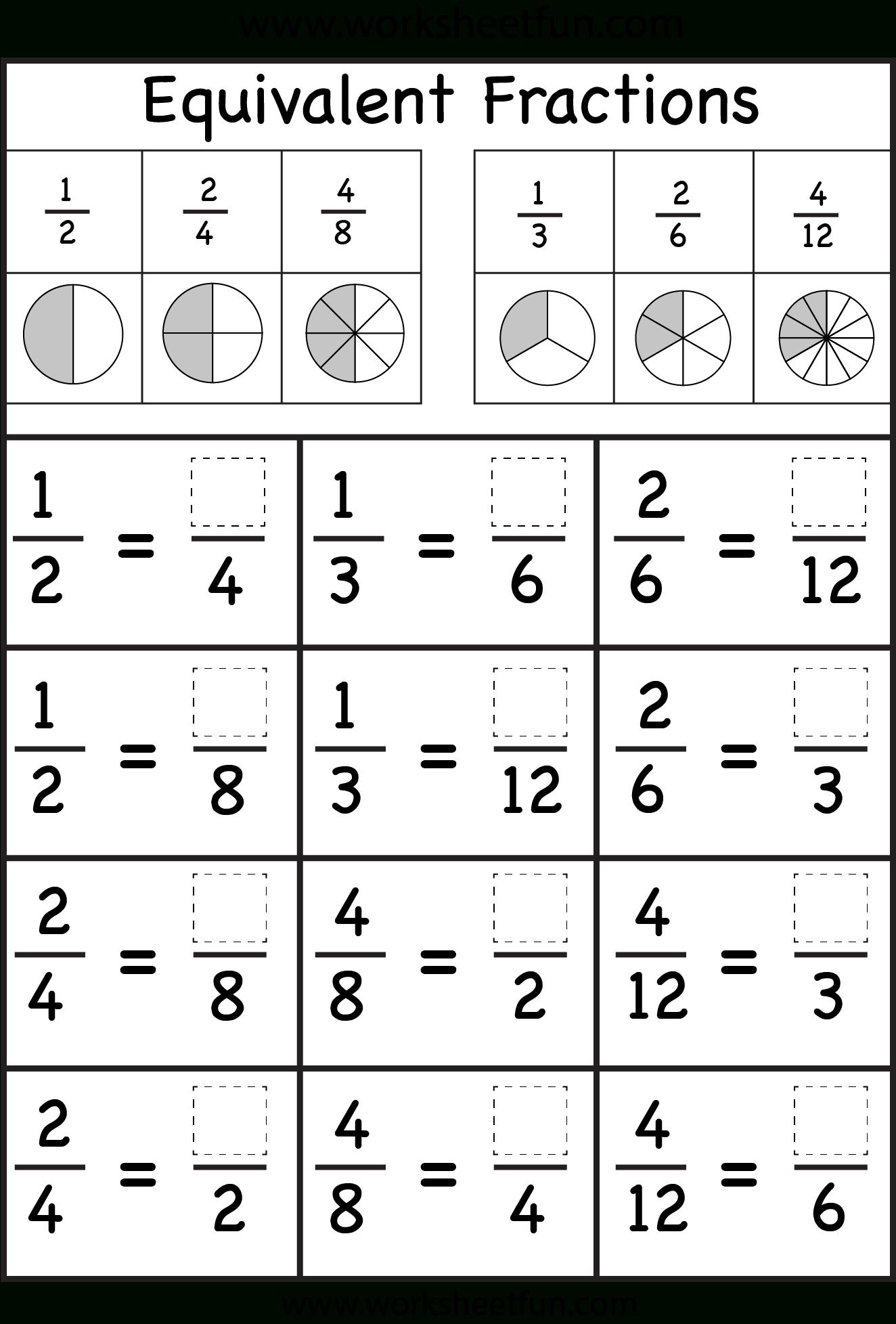Fraction Worksheets For Grade 3 For Print Fraction