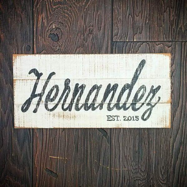 signs last name est decor hernandez this site can make custom signs rh pinterest com
