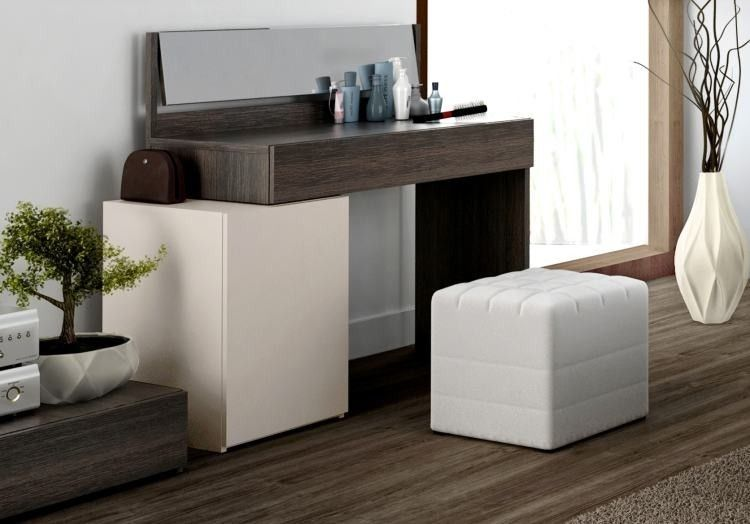 Meuble coiffeuse design avec meuble de rangement 1 porte de la ...