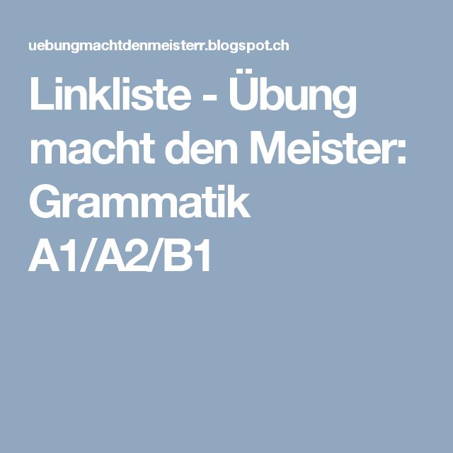 Grammatik A1 A2 B1 Grammatik Daf Lehrer Lehrer