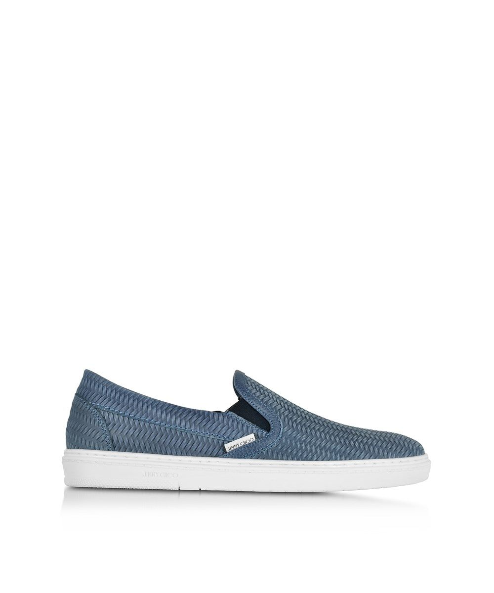 679244d34242 JIMMY CHOO Jimmy Choo Men S Grovewxb Blue Suede Slip On Sneakers .   jimmychoo  shoes  slip-ons