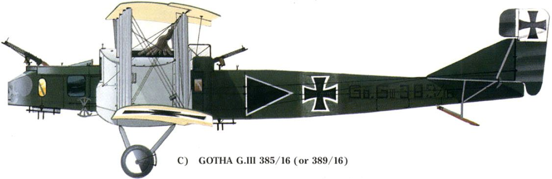 Gotha GIII Unit KAGOHL 2 Serial GoGIII385 16 Or GoGIII389 All Upper And Side Surfaces Of This Machine Were Painted Green Melhue