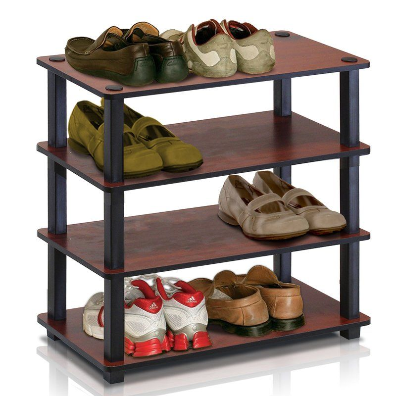 4 Tier 12 Pair Stackable Shoe Rack Handy Dandy 4 Tier Shoe Rack 3 Tier Shoe Rack Shoe Rack