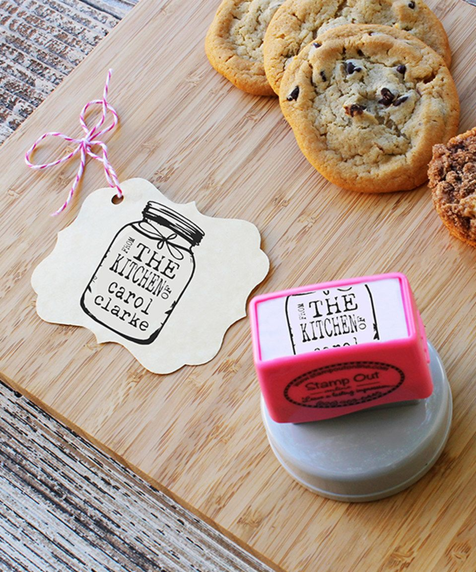 Another great find on #zulily! Kitchen Jar Personalized Stamp by Stamp Out Online #zulilyfinds