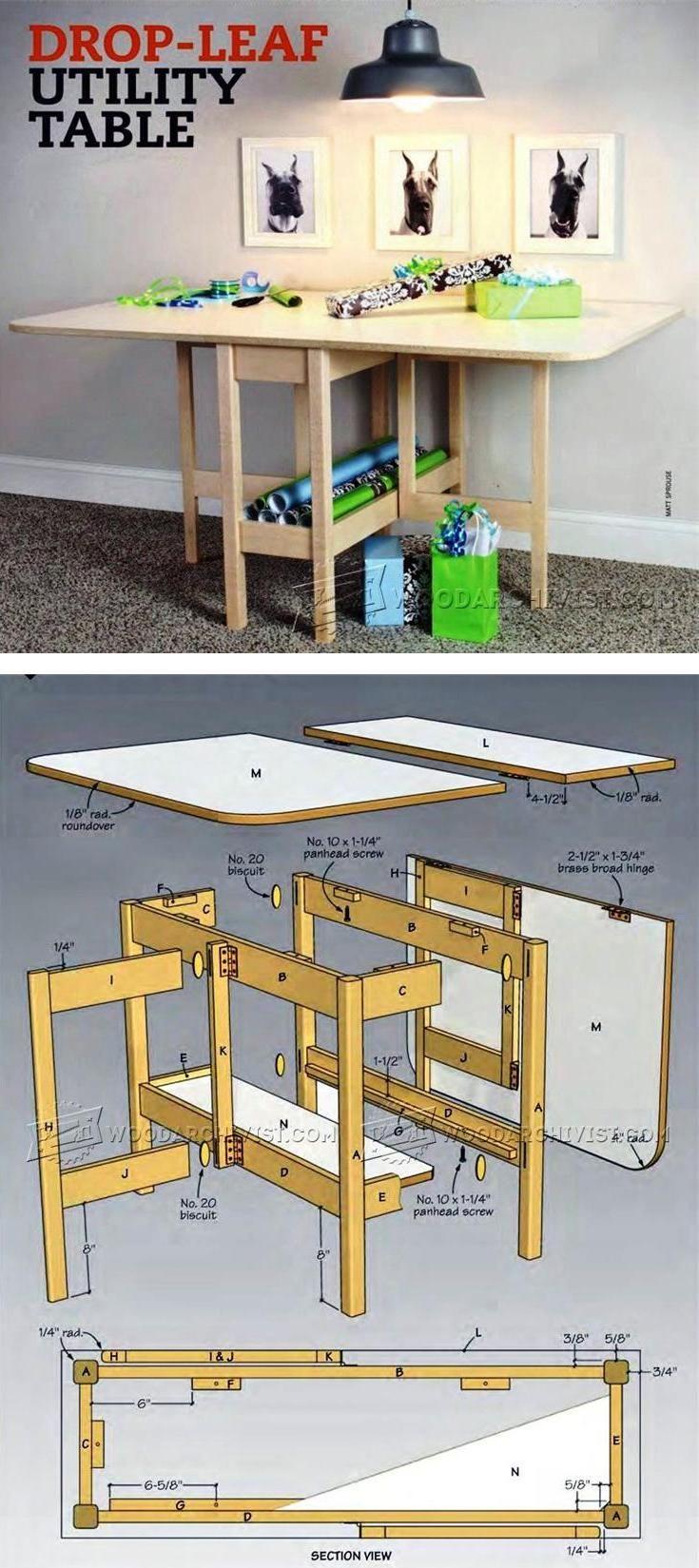 Drop Leaf Table Plans - Furniture Plans and Projects | WoodArchivist ...