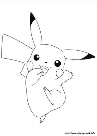 Dibujos de PIkachu Pokemon para colorear | Preescolar | Pinterest ...