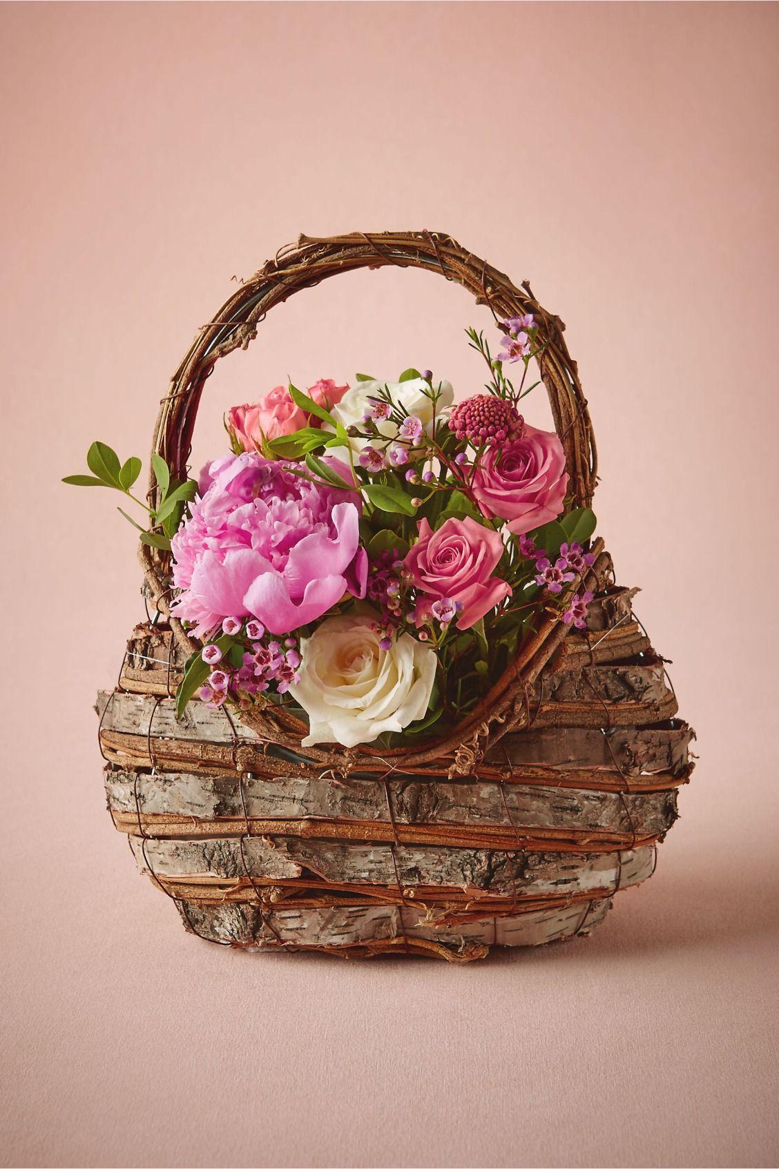 basket full of posies   Woodland Flower Girl Basket from BHLDN ...
